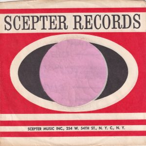 Scepter Records U.S.A. 254 W. 54th Street Address Company Sleeve 1965 – 1976