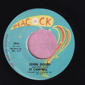 "Vi Campbell "" Seven Doors "" Peacock Vg+"