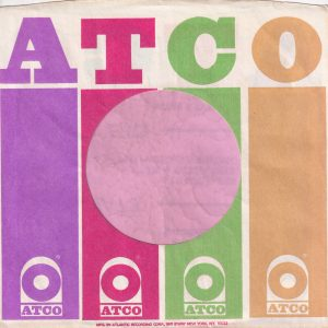Atco U.S.A. B'way Address, No Registration Mark Company Sleeve 1972 – 1974