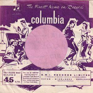 Columbia U.K. Made And Printed Under The ' I ' Company Sleeve 1958 – 1960