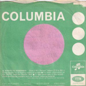 "Columbia Uk Miners Make Up Advert  "" Big Hit Shadowy Eyes "" Company Sleeve 1966 – 1967"