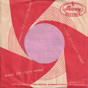 Mercury Records U.S.A. Small Hole Company Sleeve 1959 – 1960