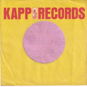 Kapp Records U.S.A. Company Sleeve 1965 – 1966