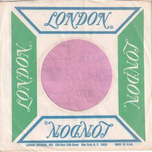 London U.S.A West 25th St. N.Y. Address Green / Ultramarine Company Sleeve 1965 – 1972