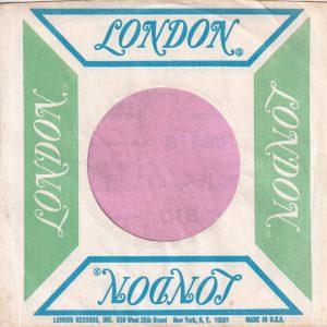 London U.S.A West 25th St. N.Y. Address Sea Green / Ultramarine Company Sleeve 1965 – 1972