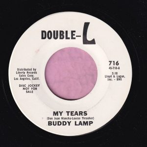 "Buddy Lamp "" My Tears "" Double-L Demo Vg+"