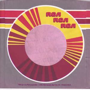 RCA U.S.A. Brownish Background Company Sleeve 1974 – 1985