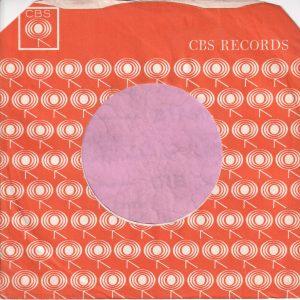CBS Records U.K. Company Sleeve 1965 – 1967