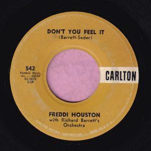 """Freddi Houston """" Don't You Feel It """" Carlton Vg+"""