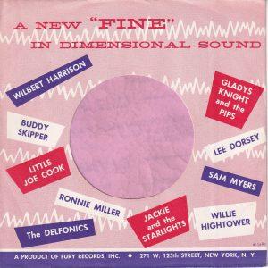 Fury Records U.S.A. Company Sleeve 1960 – 1962