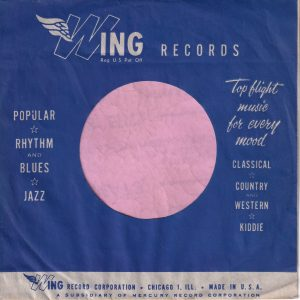 Wing Records U.S.A. Company Sleeve 1955 – 1956