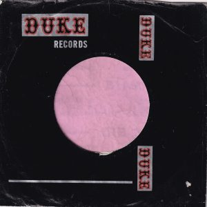 Duke Records U.S.A. Used For 33 1/3 Juke Box Singles Company Sleeve