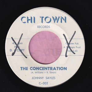 "Johnny Sayles "" The Concentration "" Chi Town Records Demo Vg+"