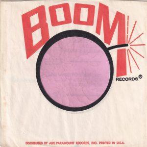 Boom Records U.S.A. Company Sleeve 1966
