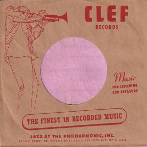 Clef Records U.S.A. Company Sleeve 1952 – 1956