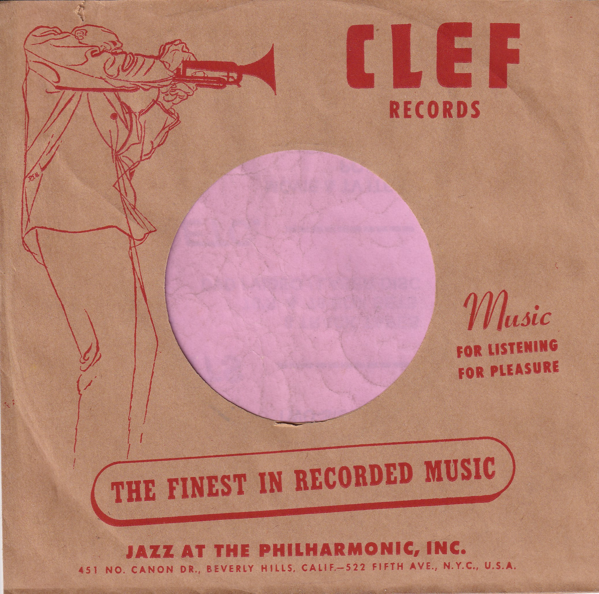 Clef Records U.S.A. Company Sleeve 1952 – 1956