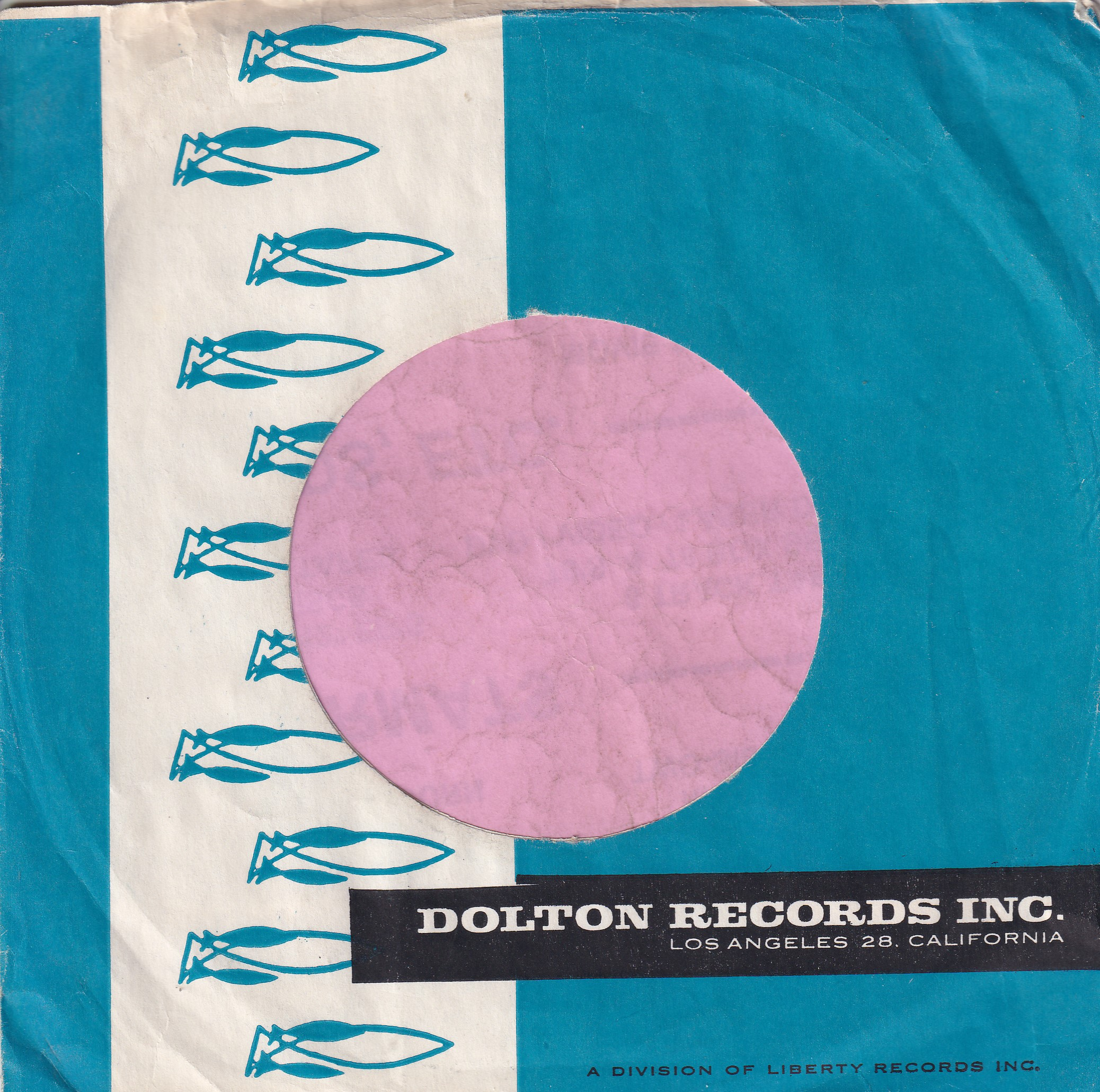 Dolton Records U.S.A. Company Sleeve 1962 – 1965