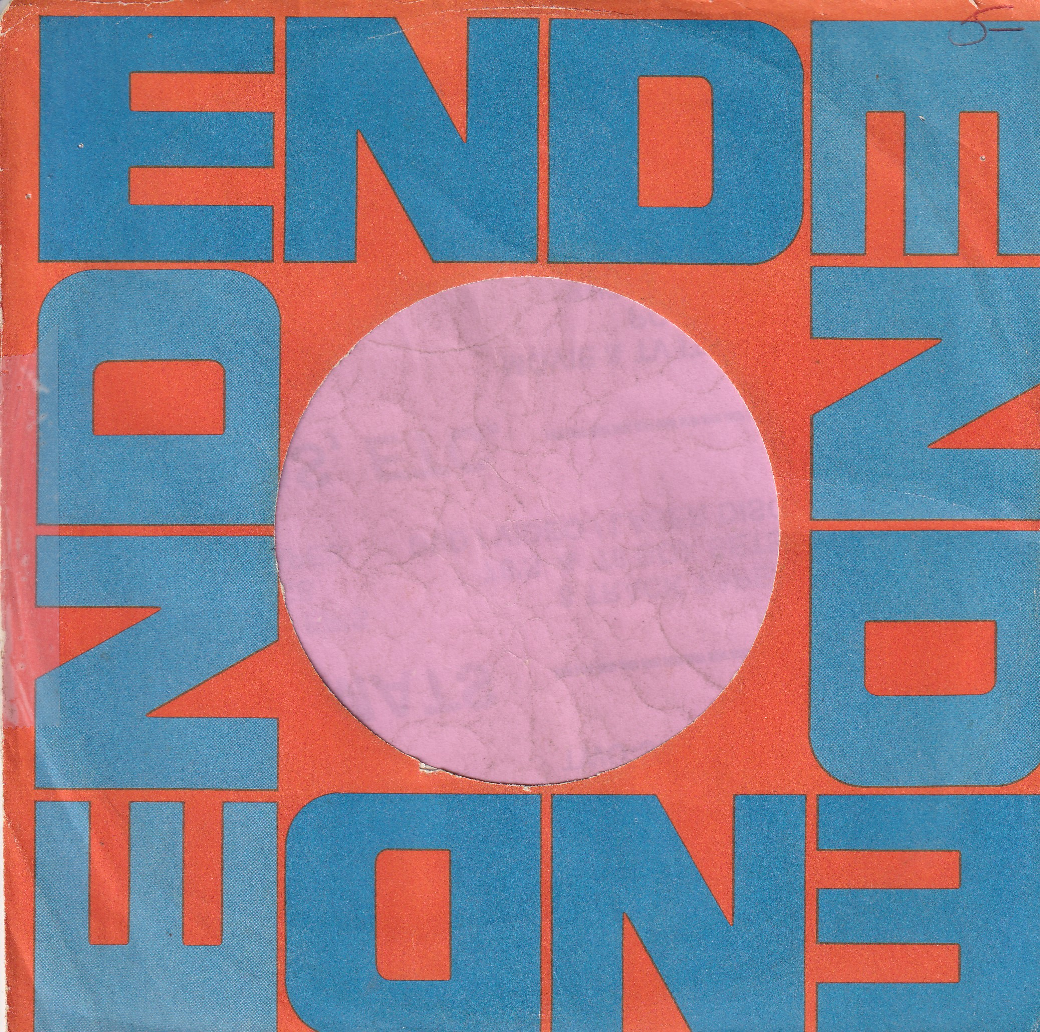 End Records U.S.A. Company Sleeve 1963 – 1964