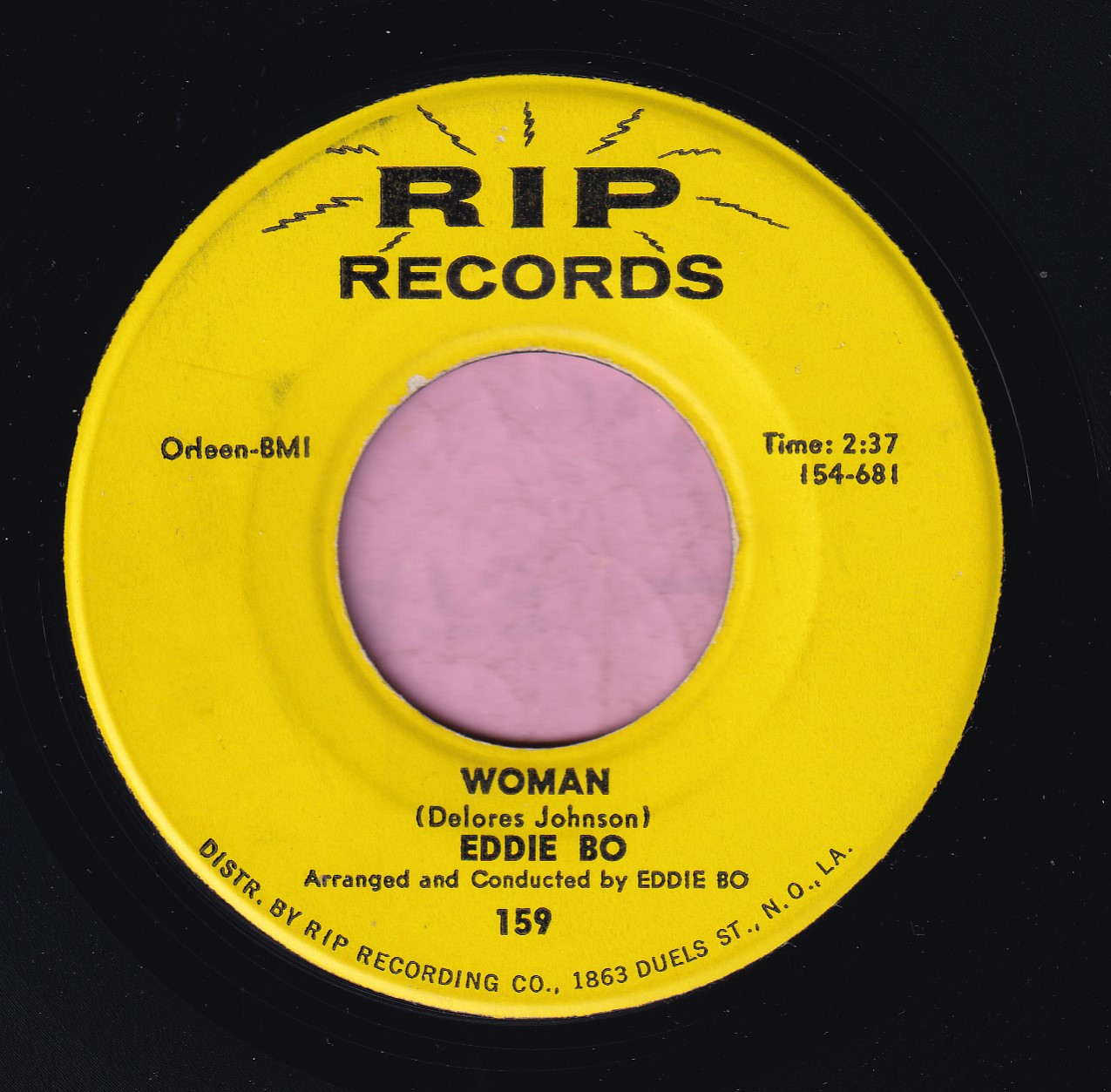 "Eddie Bo "" Woman "" RIP Records Vg+"
