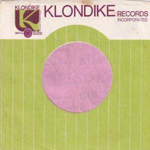 Klondike Records U.S.A. Purple Print Company Sleeve 1960's