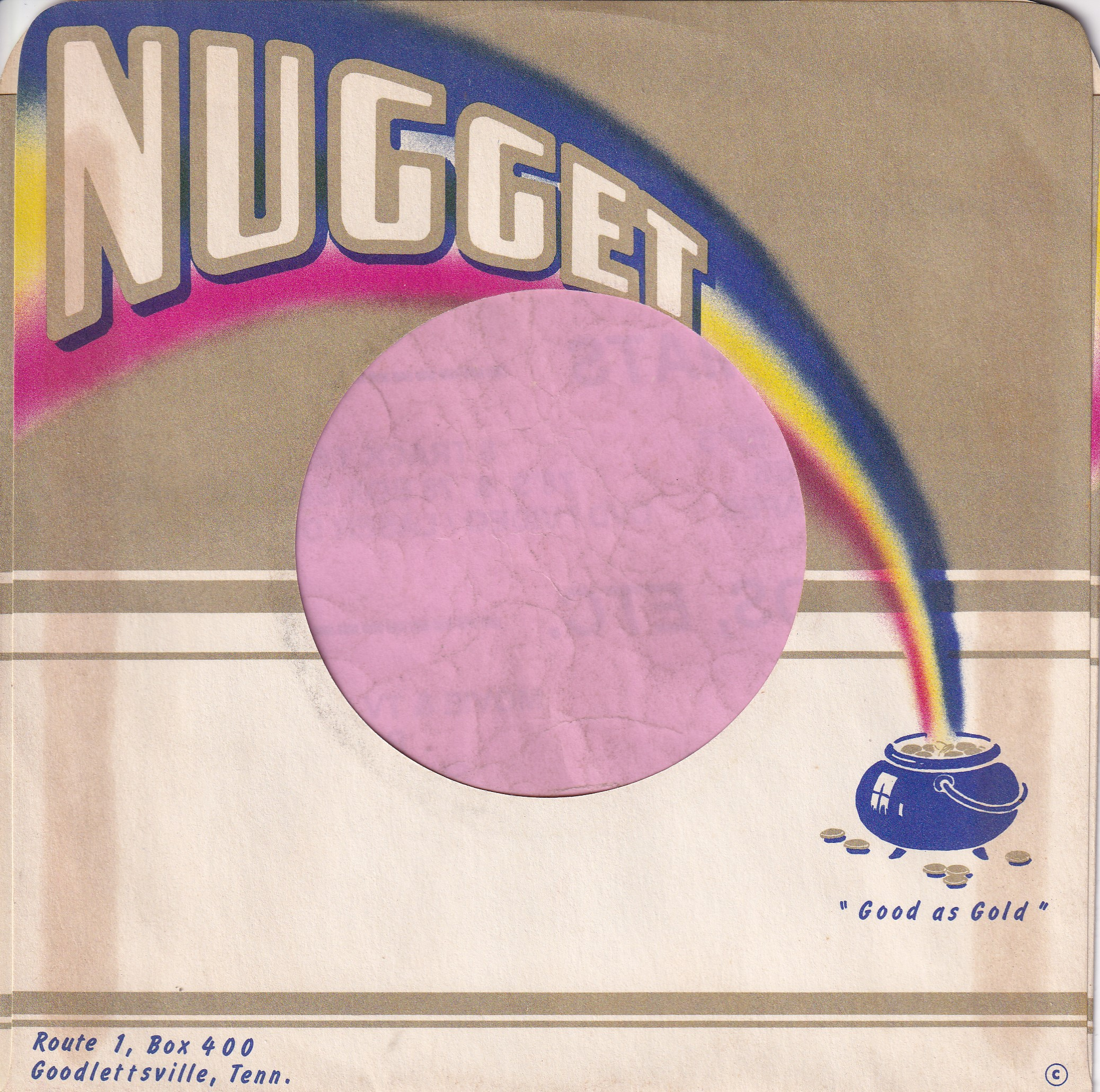Nugget Records U.S.A. Coloured Print Company Sleeve 1964 – 1970