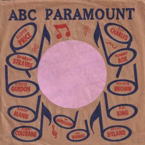 ABC Paramount Various Artists U.S.A. Company Sleeve 1960 – 1962