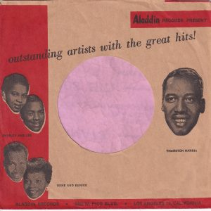 Aladdin Records U.S.A. With Thurston Harriss Added Company Sleeve 1958 – 1961