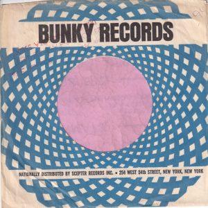 Bunky Records U.S.A. Company Sleeve 1967 – 1969