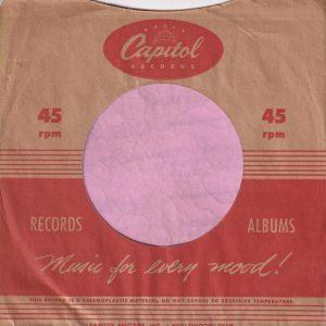 Capitol Records U.S.A. Company Sleeve 1950 -1951