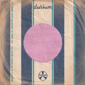 Durium U.K. Company Sleeve 1964 – 1968