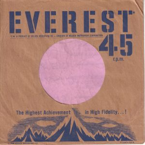 Everest U.S.A. Blue Print On Brown Paper Company Sleeve 1959 – 1961