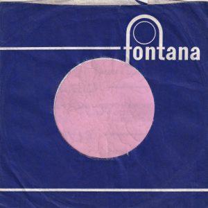 Fontana U.K. Blue Long Lines No Tabs Company Sleeve 1963 – 1966