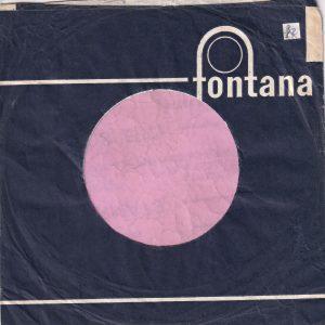 Fontana U.K. Dark Blue Long Lines Tabs Added Company Sleeve 1963 – 1966
