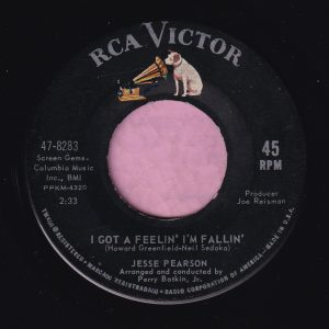 "Jesse Pearson "" I Got A Feelin' I'm Fallin' "" RCA Victor Vg+"