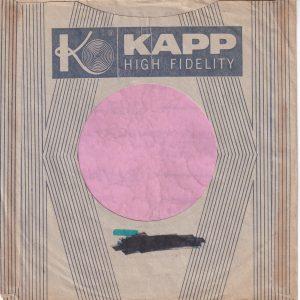 Kapp U.S.A. New York 19 N.Y. Address Details Company Sleeve 1958 – 1960