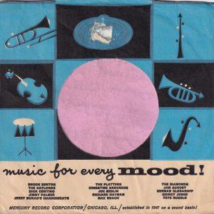 Mercury Records U.S.A. Blue , Blue Colour Printed Last , Company Sleeve 1960 – 1961