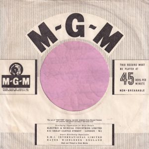 MGM Records U.K. Company Sleeve 1953