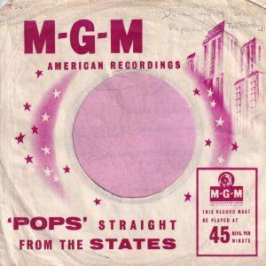 MGM Records U.K. Company Sleeve 1958 – 1959
