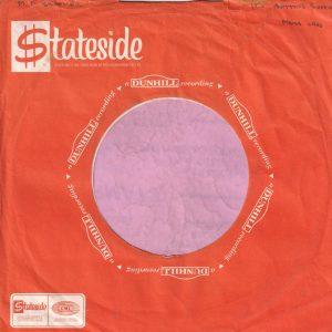 Stateside Dunhill U.K. Company Sleeve 1968