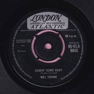 "Mel Torme "" Comin' Home Baby "" London Vg+"