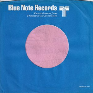 Blue Note Records U.S.A. Company Sleeve 1969 -1970