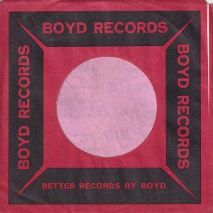 Boyd Records U.S.A. Company Sleeve