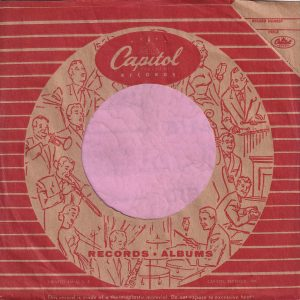 Capitol Records U.S.A. Logo Inside The Circle Of Musicians , Printed In USA On Second Line From Bottom Company Sleeve 1955 -1959