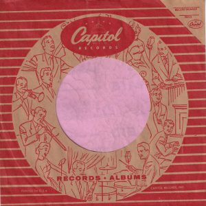 Capitol Records U.S.A. Logo Inside The Circle Of Musicians , Printed In USA On Third Line From Bottom Company Sleeve 1955 -1959