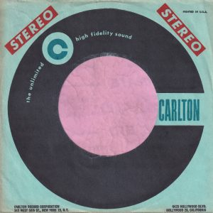Carlton U.S.A. Stereo Company Sleeve 1958 – 1964