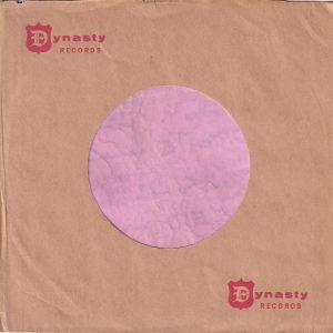 Dynasty Records U.S.A. Small Logo Company Sleeve 1959 – 1960