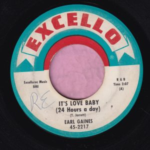 "Earl Gaines "" It's Love Baby ( 24 Hours A Day ) "" Excello Vg+"