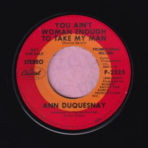 "Ann Duquesnay "" You Ain't Woman Enough To Take My Man "" Capitol Records Demo Vg+"