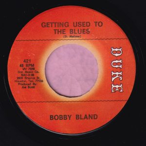 """Bobby Bland """" Getting Used To The Blues """" Duke Vg+"""