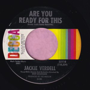 """Jackie Verdell """" Are You Ready For This """" Decca Vg+"""